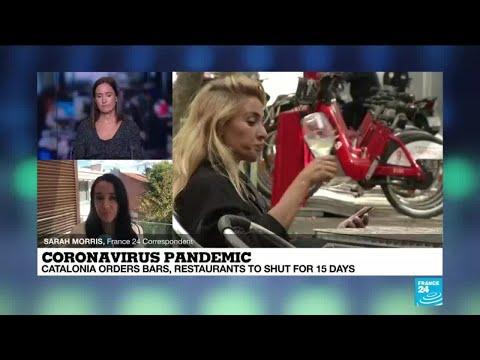 Spain's Catalonia region orders bars and restaurants to shutdown for 15 days