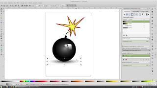 Как нарисовать маленькую бомбочку в Inkscape.