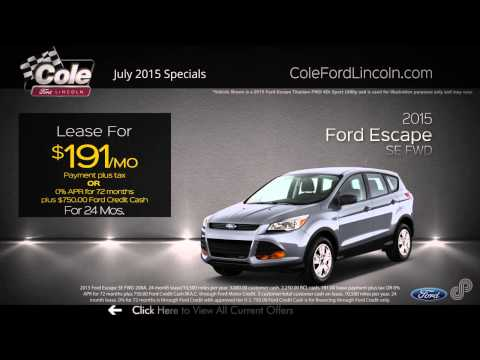2015 Ford Escape July Offer SP