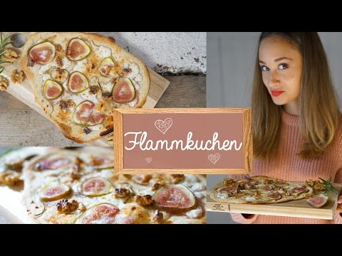 Flammkuchen selber machen – gesunde Pizza alternative – vegetarisches Rezept