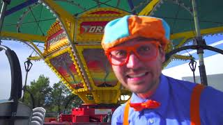 Blippi Toys! Blippi at an Amusement Park Learning Colors at the Carnival