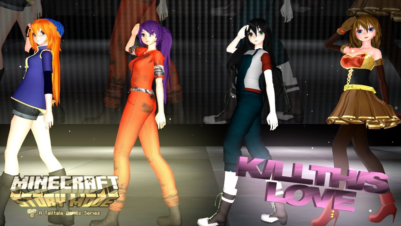 Mmd Kill This Love Minecraft Story Mode Youtube