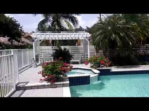 Solar pool pump installation 1200 watts solar panels