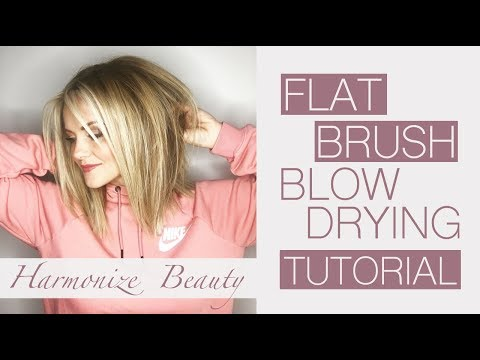 Flat brush blow drying tutorial