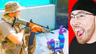 I Found The BEST Fortnite Nerf Battle on YOUTUBE!