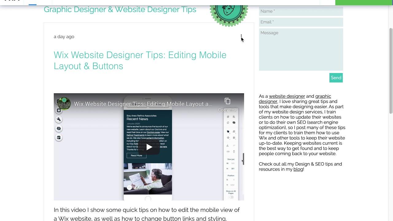 Wix Designer Tips: New Wix Blog Social Sharing Settings
