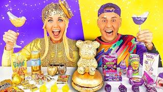 Gold Food VS Purple Food 디저트 챌…