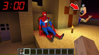 Minecraft : WHAT HAPPENED TO SPIDERMAN AT 3AM? (Ps3/Xbox360/PS4/XboxOne/PE/MCPE)