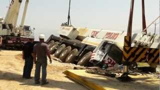 Repeat youtube video Crane accident Liebherr Ltm-1200. Avi cranes. Кран