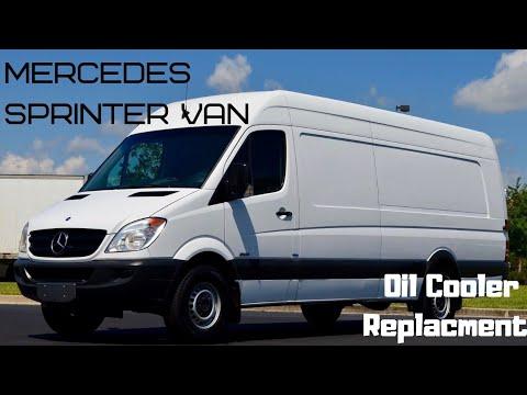 Dodge Mercedes freightliner sprinter 3.0 V6 Engine oil leak oil cooler removal and replacement.