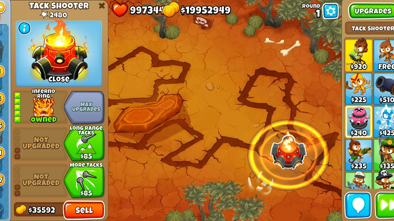 BTD6 Update 8 0 - (5-0-0) Ring of Fire New Ability