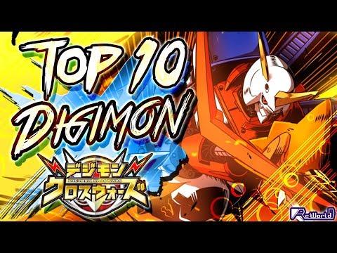 TOP 10 Digimon Generación Xros Wars