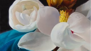 Oil Painting Time-lapse | Magnolia Flower