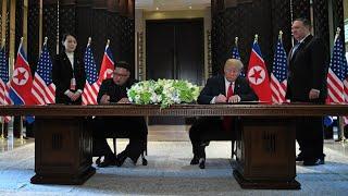 """REPLAY - Trump et Kim signent un document commun, """"une nouvelle ère"""" pour Kim"""