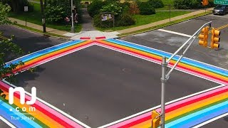 Maplewood Township unveils colorful crosswalks