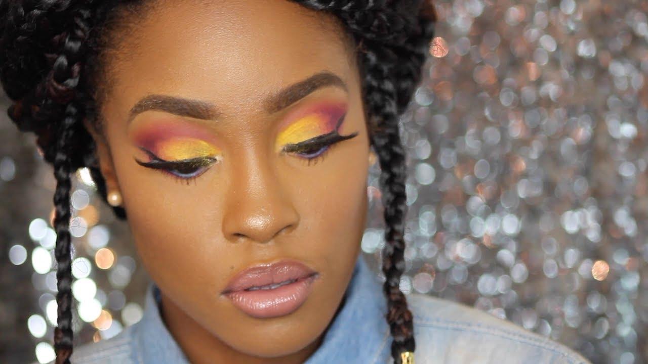 sunset inspired make up tutorial for dark skin ft bh cosmetics take me to brazil palette youtube. Black Bedroom Furniture Sets. Home Design Ideas