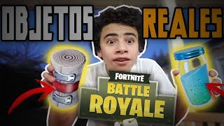 OBJETOS DE FORTNITE EN LA VIDA REAL (items de fortnite reales) chiso