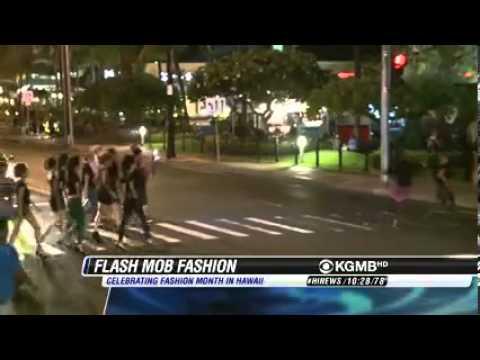 Hawaii Fashion Month Fashion Flash Mob - Hawaii News Now 10.12.13