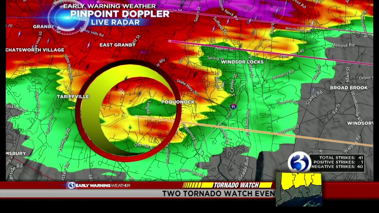 May 15, 2018 CT tornado coverage on WFSB (Part 1)