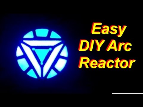 DIY Cheap and Easy Iron Man Arc Reactor that Really Glows - YouTube