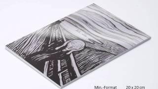 Fotos aufgezogen auf eine Forex-Hartschaumstoff-Platte von printolino