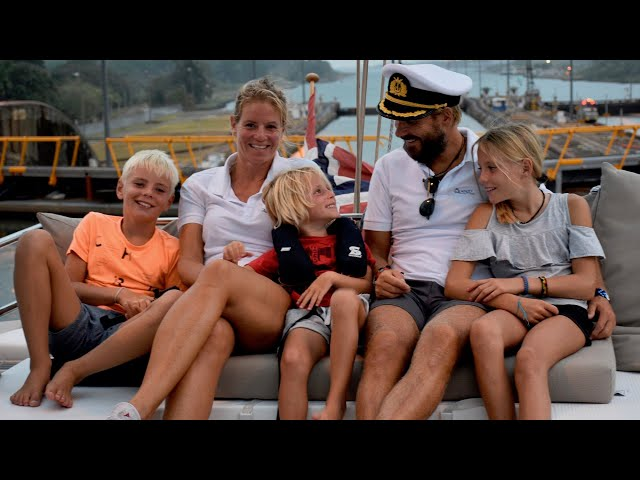Catamaran boat life Sailing Panama Canal ep 18