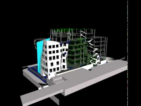 Navisworks construction simulation of new Frank Gehry Building at UTS in Sydney