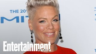 Pink On Cringing During Christina Aguilera's Whitney Tribute | News Flash | Entertainment Weekly