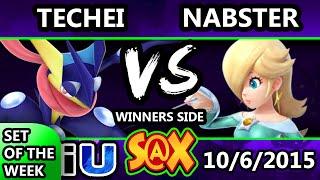 S@X 118 - Nabster (Rosalina) Vs. Techei (Greninja) SSB4 Tournament - Smash Wii U - Smash 4