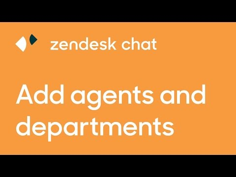 Add Agents and Manage Departments