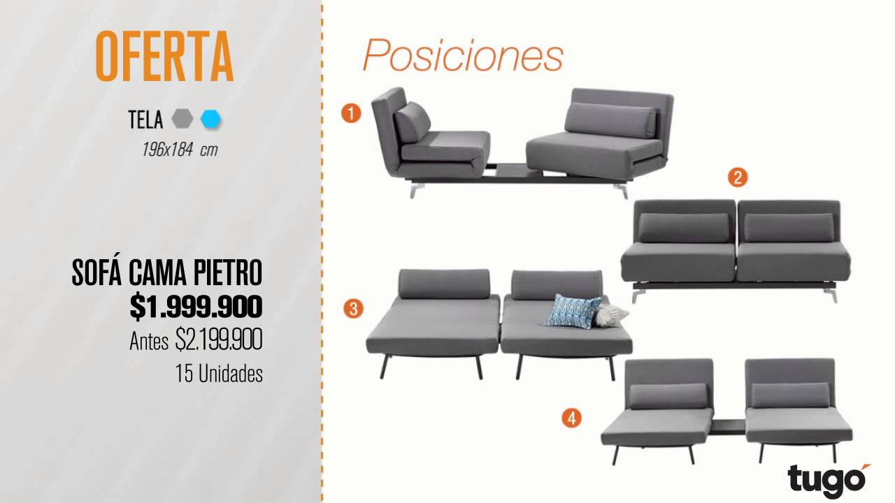 Sofa Cama Tugo Medellin Red Chenille Set Pietro Enero Youtube Colombia