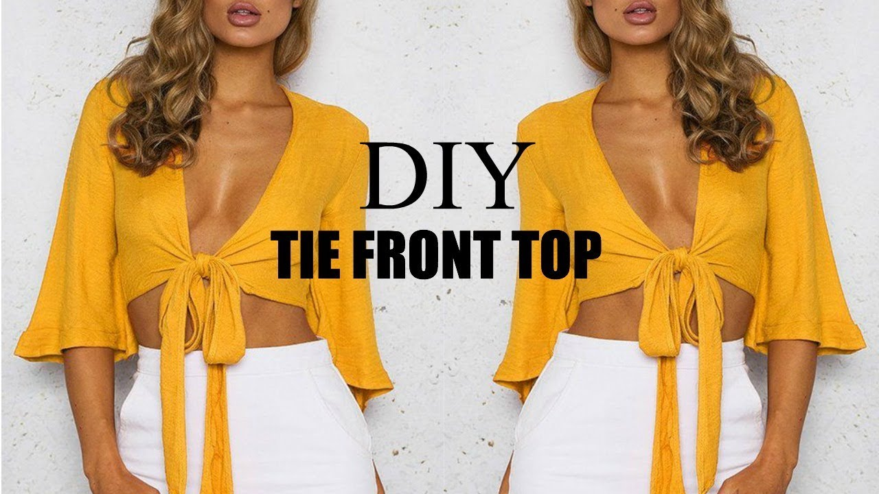 How to tie a tank top