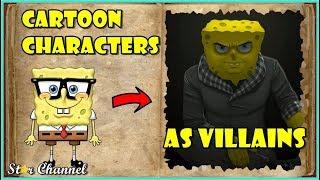 Personajes De Dibujos Animados Ha Reinventado Como Villanos   Imágenes Divertidas