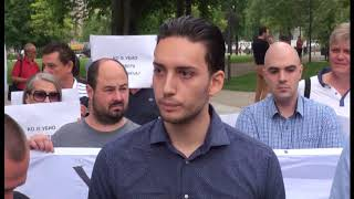 Članovi PSG-a na protestima u Beogradu tražili odgovore o istrazi ubistva Olivera Ivanovića