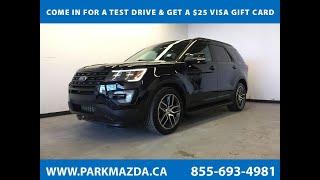 BLACK 2017 Ford Explorer  Review Sherwood Park Alberta - Park Mazda