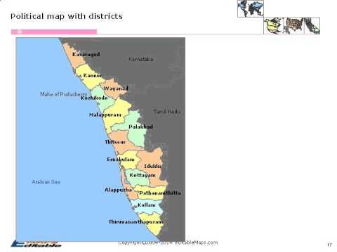 Kerala Editable Map Youtube