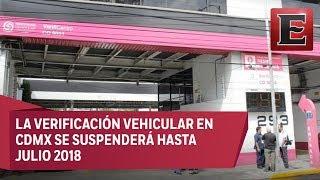 Anuncian cambios en la verificación vehicular