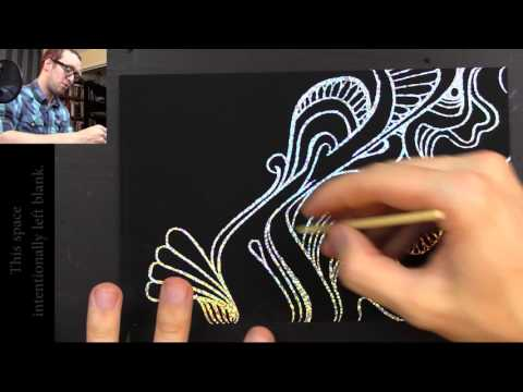 Drawing with Peter Draws: Glittery Scratchboards