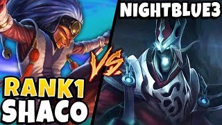 Download #1 SHACO WORLD HAS AN INSANE COMEBACK AGAINST NIGHTBLUE3! (IN HIGH ELO) - League of Legends Mp3 and Videos