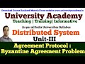 L14: Agreement Protocols|Distributed System|classification of Agreement Problem|Byzantine agreement