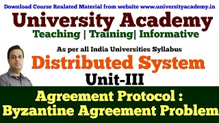 L14: Agreement Protocols Distributed System classification of Agreement Problem Byzantine agreement