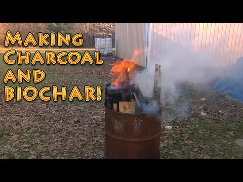 How to make BIOCHAR and Charcoal