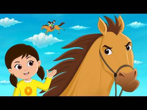 Lakdi Ki Kathi Kathi Pe Ghoda Song (लकड़ी की काठी, काठी पे घोड़ा) Fun For Kids TV Hindi
