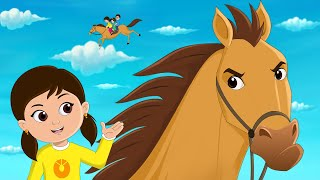 Download Lakdi Ki Kathi Kathi Pe Ghoda Song (लकड़ी की काठी, काठी पे घोड़ा) Fun For Kids TV Hindi