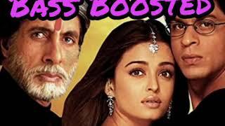 Bass Boosted / Mohabbatein / Humko Humise chura Lo / Hindi songs - ( use headphones 🎧 )
