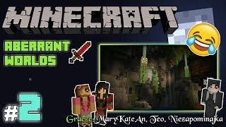 """MINECRAFT Escape: Aberrant Worlds z MaryKateAn i Teo! [2/4] - """"Przeprawa przez jaskinie"""""""