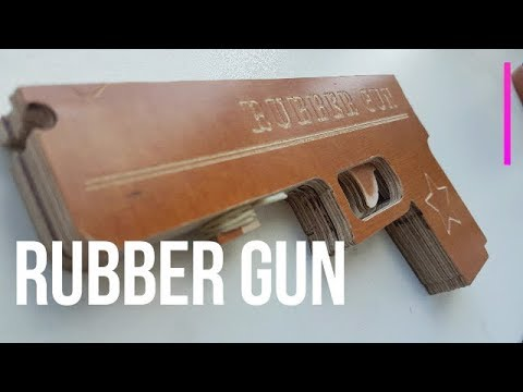 How to make rubber band gun from wood   DIY wooden semi-automatic gun