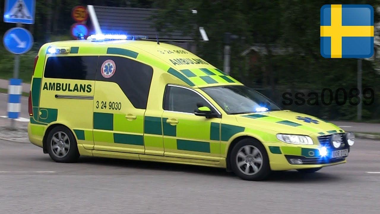 Ambulans 24-9030 Volvo V70 Västerås [SE   6.2015] - YouTube