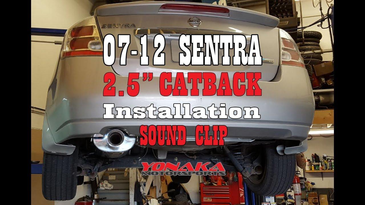yonaka 2007 2012 nissan sentra catback exhaust 2 0l