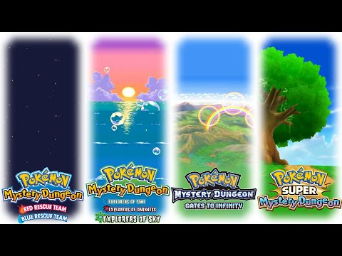 Pokemon Mystery Dungeon - All Main Staff Credits Themes (with intros)